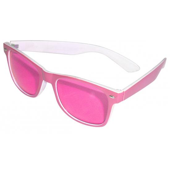 51f1f36fe23df0 Roze zonnebril met witte binnekant en 2 zilveren steentjes 4.95 ...